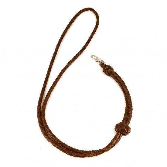 Whistle leash, cognac