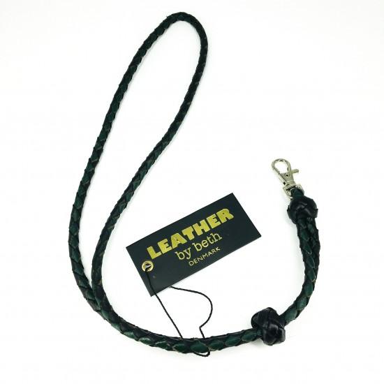 Whistle leash, black/darkgreen