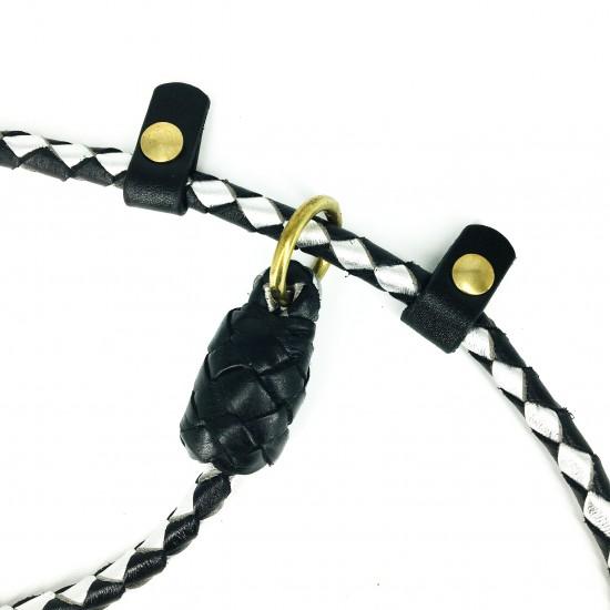 Retriever-leash, black/silver